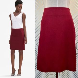 MM Lafleur The Noho Skirt in Pomegranate Red